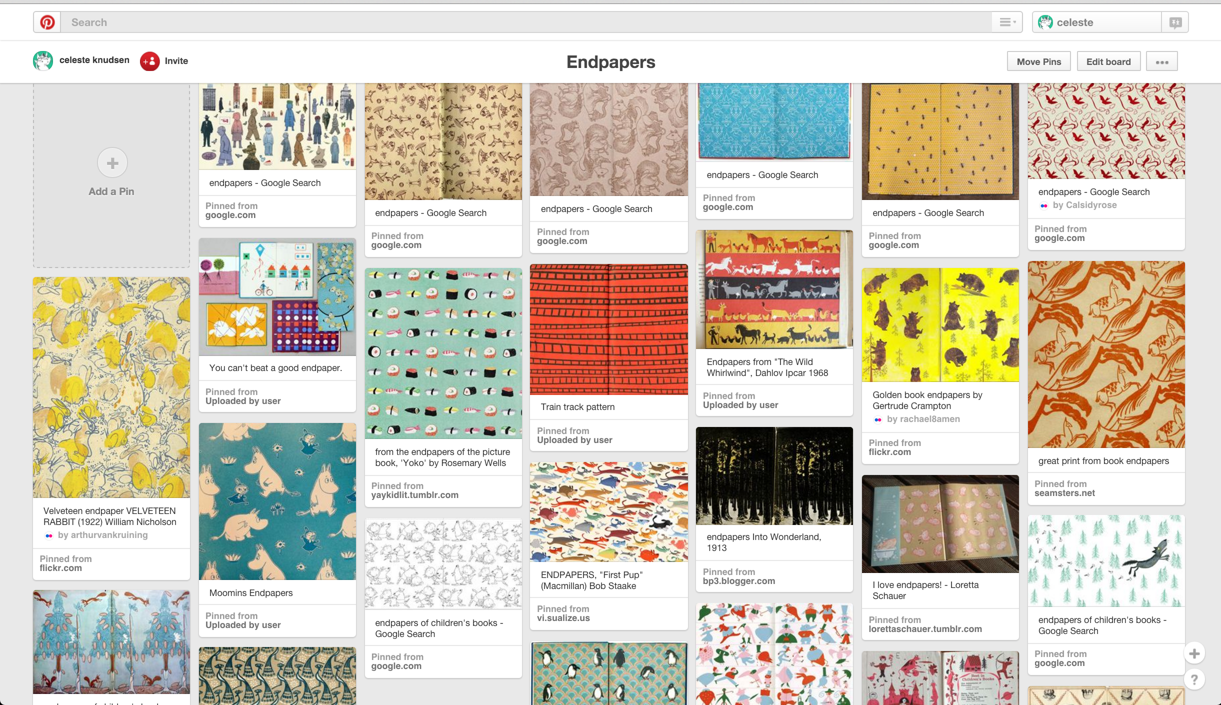Endpapers Pinterest Board